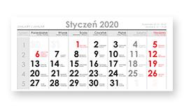 Kalendaria do kalendarzy trójdzielnych