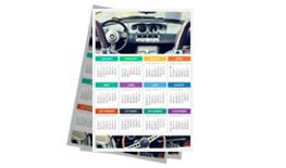 Kalendarze listwowane wielostronicowe